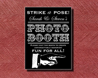 Printable Wedding Photo Booth Sign