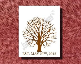 Wedding Fingerprint Guest Book DIY Print-Ready