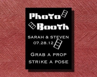 Wedding Reception Photo Booth Sign