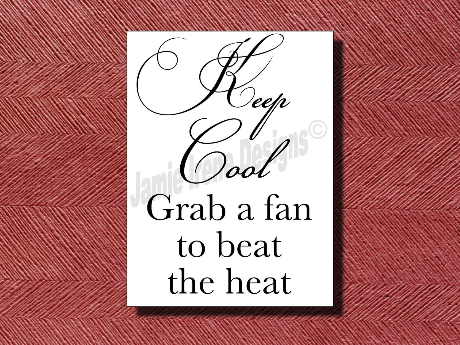 wedding keep cool grab a fan sign wedding fans zoom