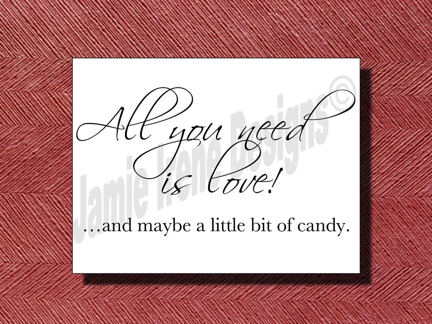 Wedding Candy Bar/Buffet Sign/Poster DIY Print-Ready
