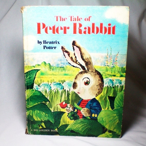 The Tale of Peter Rabbit - 1963 - Vintage Big Golden Book - illustrated by Rod Ruth