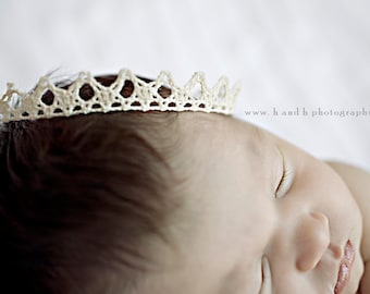 Samantha- Dainty delicate crown off white perfect photography prop or special occasion