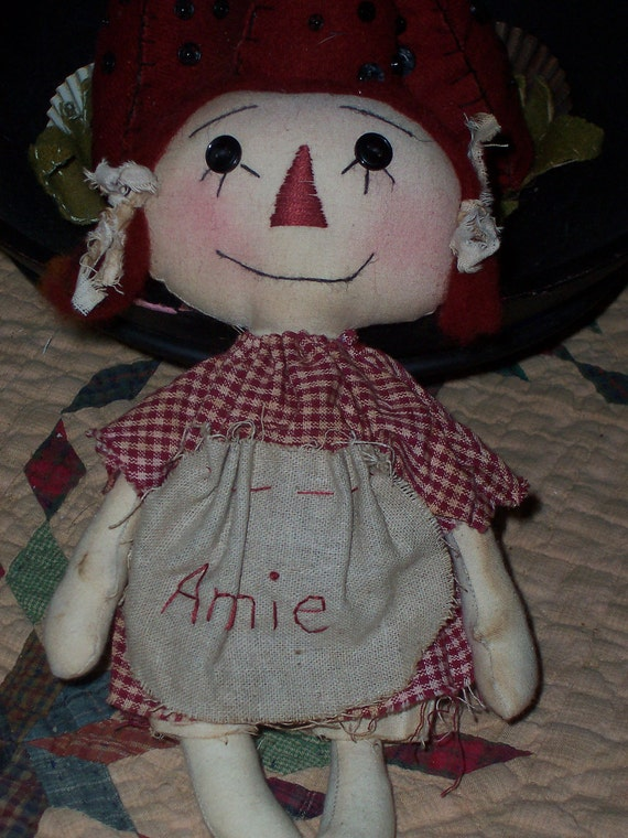 Handmade Primitive Small Annie Doll