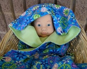 Baby Blanket, Pampered Baby, Shower/New Baby Gift, Flower Power Luxury Baby/Toddler Blanket Cotton Flannel