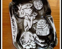 Antique Ashtray. Betty Rubble from Flintstone Series. PRICE REDUCTION