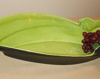 Vintage Royal Haeger Bowl.  PRICE REDUCTION. Royal Haeger Vase.  Large, Leaf Shape
