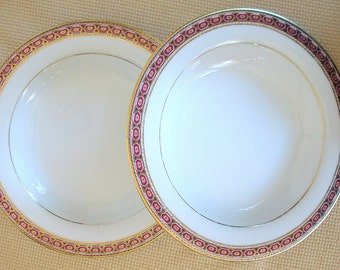 Soup Bowls Muirfield China Pompeii Pattern Vintage Two, a Pair PRICE REDUCTION