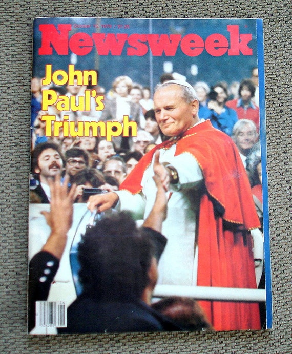 "Pope John Paul II Newsweek Article Vintage Entitled John Paul's Triumph""  Pope's 1979 Visit to America"