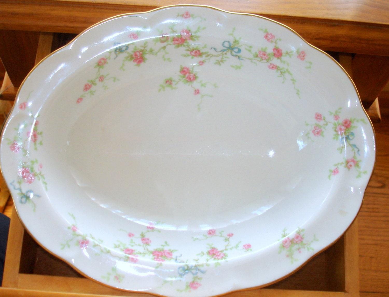 antique haviland limoges vegetable bowl rosanne pattern. Black Bedroom Furniture Sets. Home Design Ideas