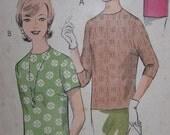 1960s Vintage Mod Dress  blouse top WEIGELS Bust 36 Rare 2174