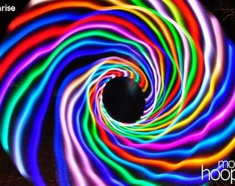 Sunrise LED hoop, by Moodhoops