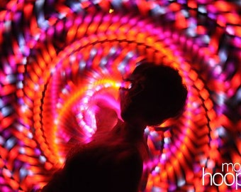 Tigerlily LED hoop, by Moodhoops