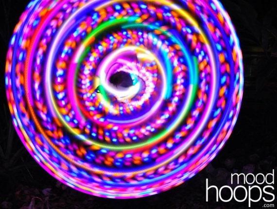 Blaze LED hoop, by Moodhoops
