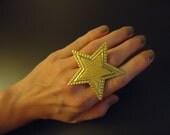 Gold Star Ring