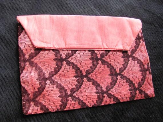 Sexy Hot Pink Black Lace Lingerie Bag Holder
