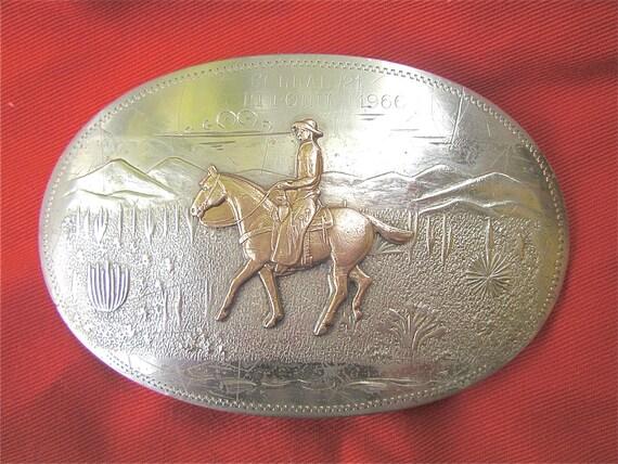 Buckle Cowboy Irvine Jachens Rare Silver German Authentic 1966