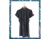 Vintage Polka Dot Black Dress