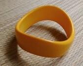 Vintage Asymmetrical Bangle - Western Germany - Yellow Orange