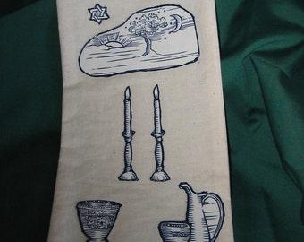 Wine or Liquor Gift Bag Shabbat Candles  #178