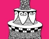 Cake - fine art print in 8 x 10 mat