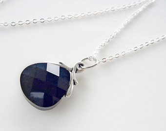 Swarovski Crystal Pendant  - A Jet Black Beauty -  Classic and romantic