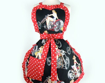 Motorcycles and Pinups Apron
