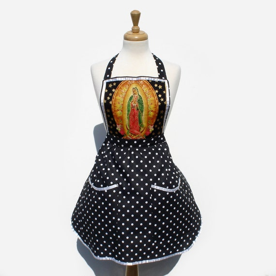 Guadalupe Apron  Virgin Mary Apron  FREE SHIPPING