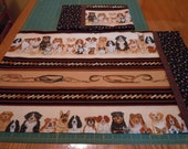 Set of 2 Dog Breed Western Style Pillow Cases