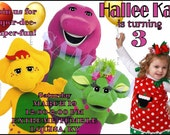 Personalized Barney & Friends Birthday Invitation - Digital Print Your Own