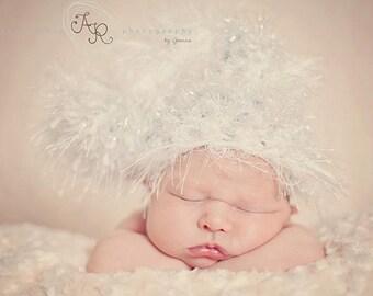Newborn size, Sparkle Fluff Sleeper, fab photo prop or gift