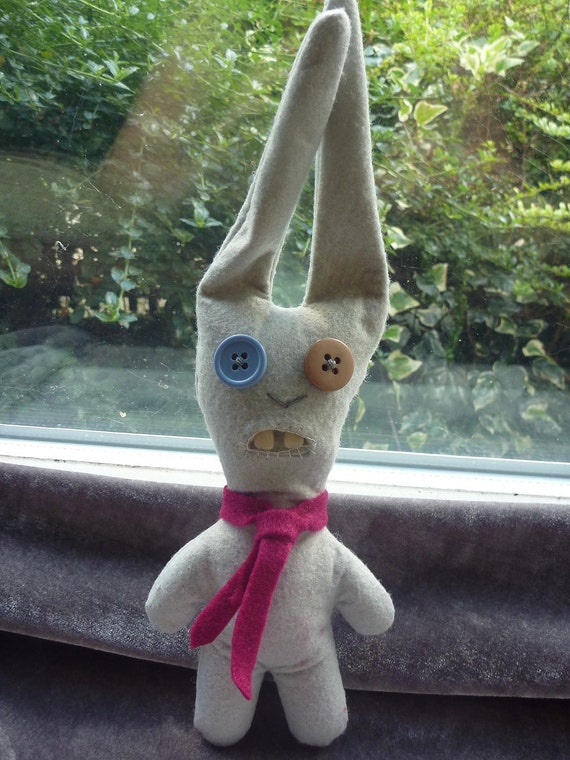 SALE ITEM Bobby the Office Worker Rabbit -  a plush Fuggler 27cm
