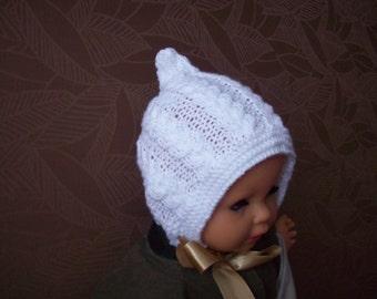 newborn hat, newborn photo prop, bonnet newborn/ baby hat with a satin bow, photography props, newborn boy, newborn girl, baby bonnet