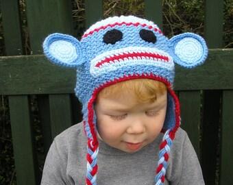 newborn photo prop, newborn hat,  monkey newborn/ baby hat,  photography props, newborn boy, newborn girl, baby hat, knit hat baby
