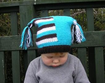 Newborn photo prop, Square/ Jester newborn/ baby hat, photography props, newborn boy, newborn girl, knit hat baby, newborn props, baby hats