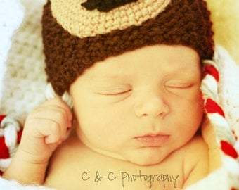 Ohio State Buckeyes  baby hat for 12-24 months sizes, photography props, baby hats, knit baby hat, baby photo prop, photo props, baby boy