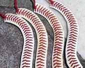 CUTE Baseball Bracelet made from REAL BASEBALL - krystleskrafts