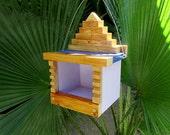 Mayan Bird Feeder Decoration - Maya Pyramid Style Birdfeeders