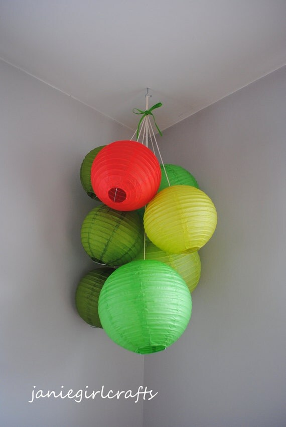 The Very Hungry Caterpillar Large Paper Lantern Balloon Mobile