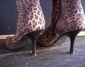 Vintage Leopard Stretch Boots (8M)