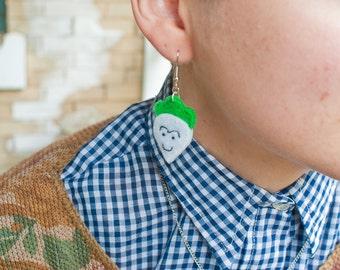 Super Mario Bros. 2 Radish Earrings