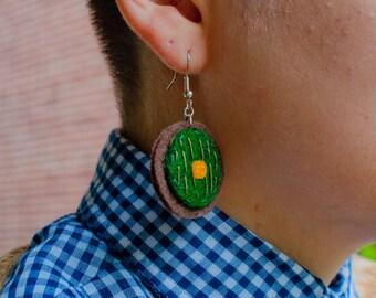 Hobbit Hole Door Earrings