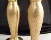 Vintage  Holiday Gold set Salt & Pepper
