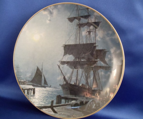 "ON SALE....John Stobart ""Waiting for the Dawn"" Collector plate"