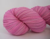 Extra 10% off this week- 20 percent off- Ultra Soft Merino Superwash- 100 grams Color- Shades of Pink & Lavender Hand Dyed Yarn