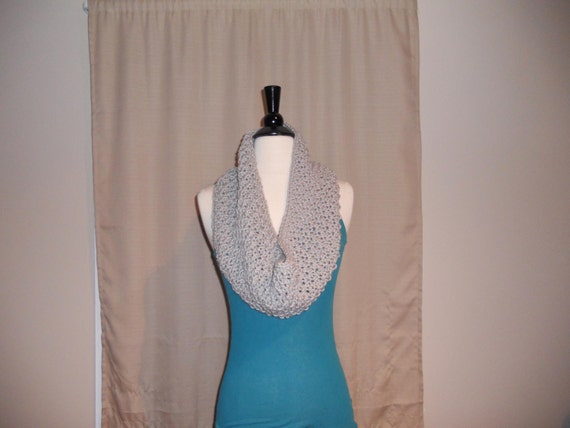 Camile In Light Gray-  Cowl/ Infinity Scarf