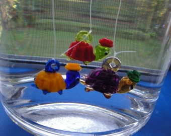 Floating Glass Turtle. Three Pack