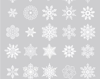 Digital Snowflakes - photoshop brush, vector & .png files for PERSONAL or COMMERCIAL use