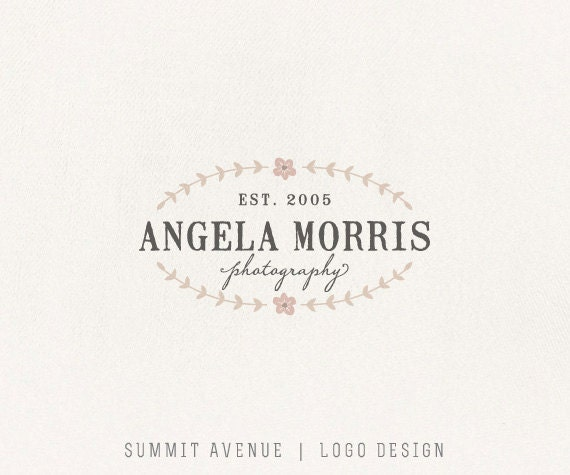 Custom PreDesigned / pre-made organic Boutique or Photography Logo by summit avenue