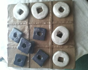 Tic Tac Toe game of cermanic, Toys, Game, Home Decor